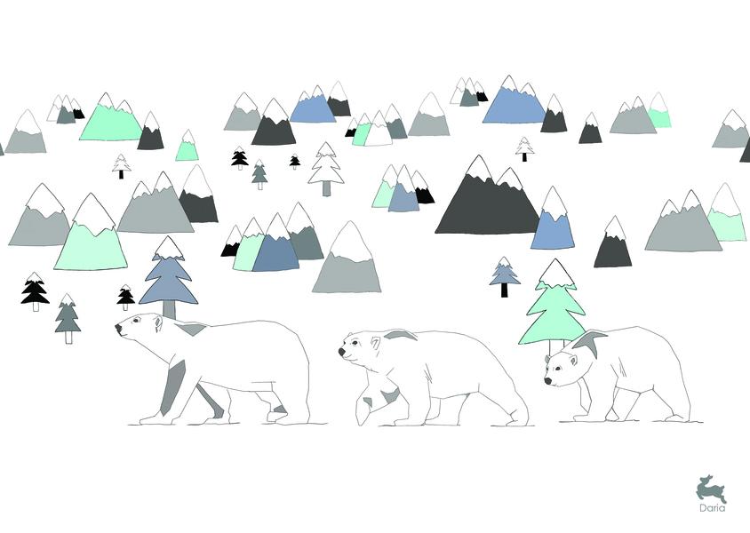 משפחת דובים - כחול