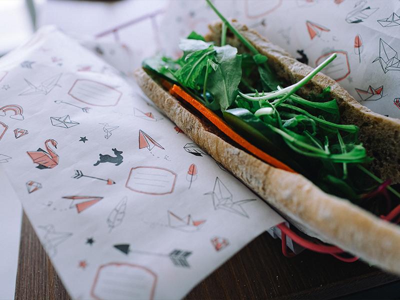 נייר סנדוויצים אוריגמי