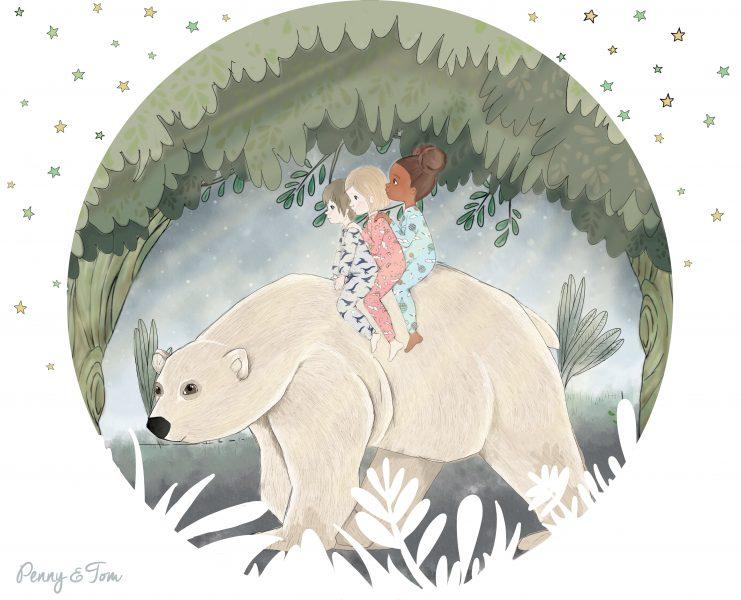 ציפית טום, פני ולואיזה רוכבים על דב ביער