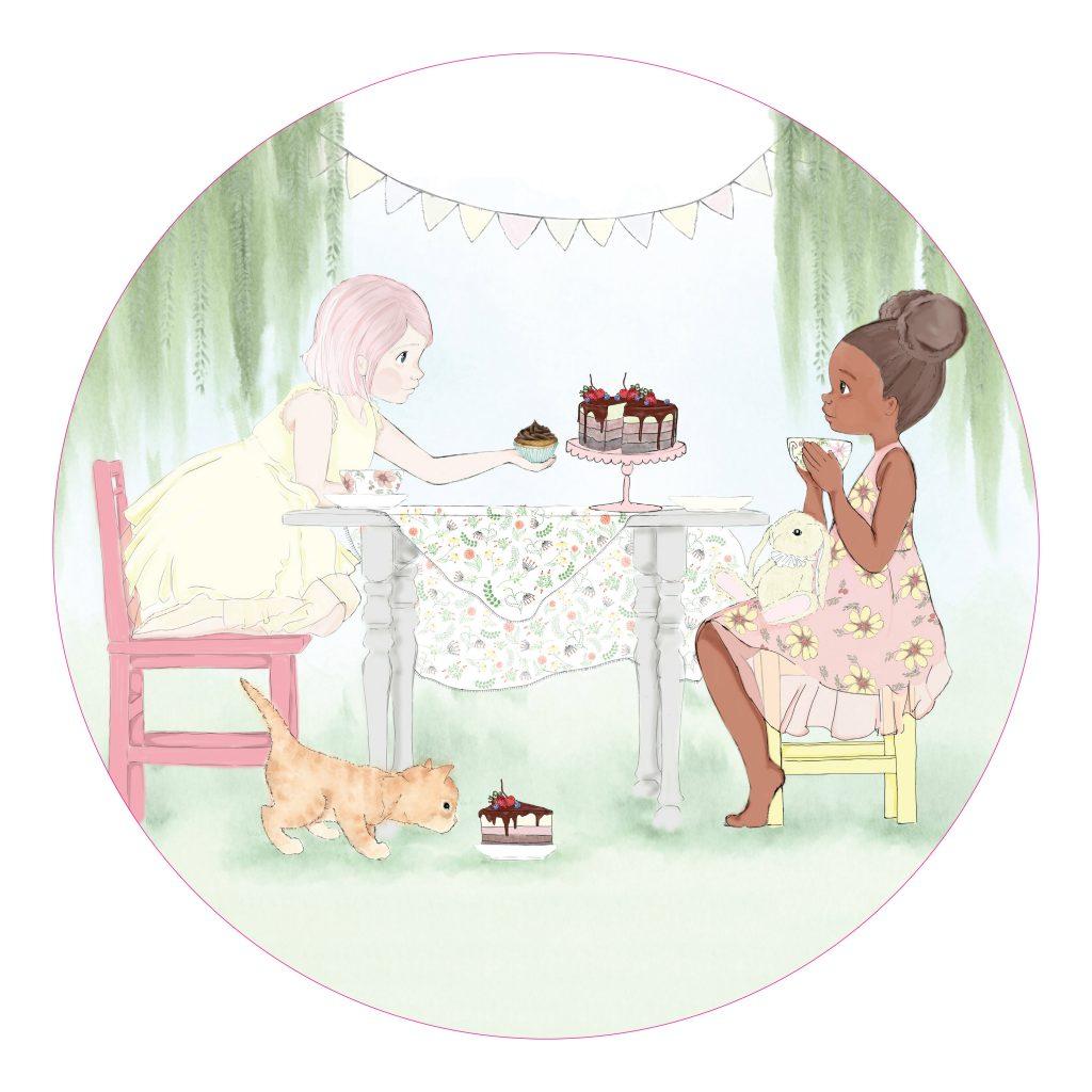 צלחת פני ולואיזה - מסיבת תה