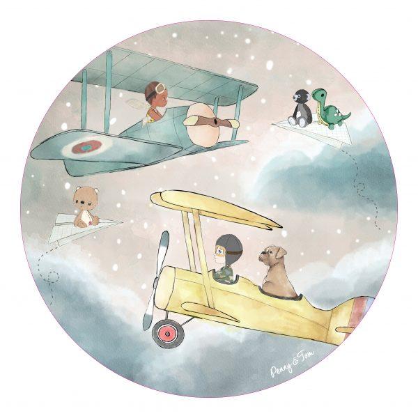 ציפית טום והנרי טסים בשמיים