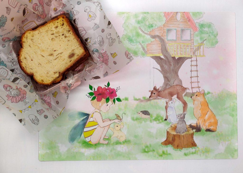 מארז פלייס-מט וזוג חבילות נייר עטיפה לסנדוויצים